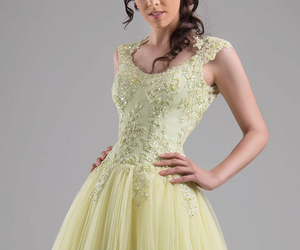 dress and green gown image