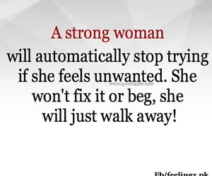 quote, walk away, and strong woman image