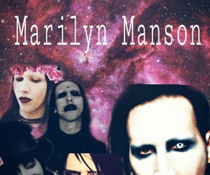 galaxy, Marilyn Manson, and metal image