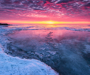 winter, ice, and nature image