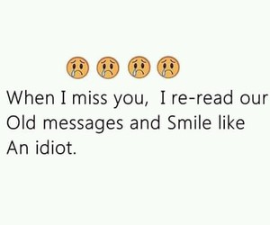 message, sad, and miss image