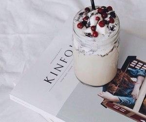 book, chocolate, and coffee image