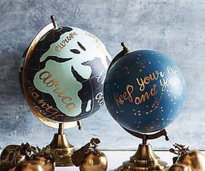 globe, art, and travel image