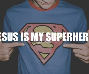 jesus, superhero, and god image