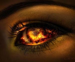 fire, eye, and beautiful image