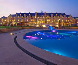 luxury, pool, and light image