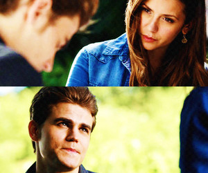 Vampire Diaries, stefan and elena, and tvd image