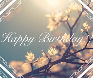 flowers, happy birthday, and lace image