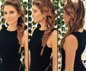braid, fishtail, and hair image