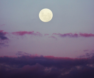 clouds, grunge, and moon image