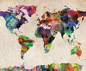 art, earth, and map image