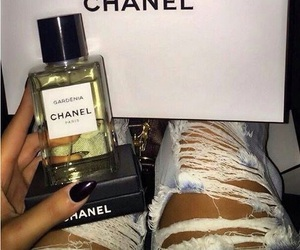 chanel, glamorous, and ripped jeans image