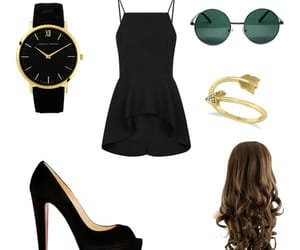 black, Polyvore, and outfits image
