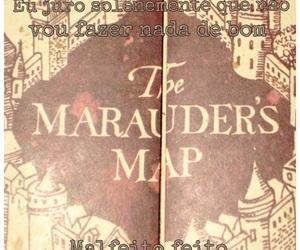 harry potter, malfeito feito, and the marauder's map image
