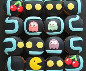 cupcake, pacman, and food image