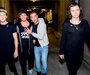 one direction, louis tomlinson, and Harry Styles image