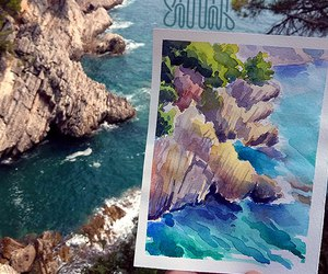 draw, drawing, and watercolor image