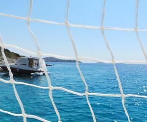 beach, boat, and Croatia image