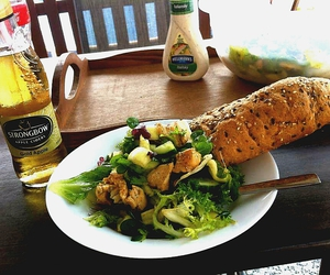 salad, summertime, and strongbow image