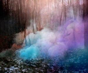 colorful and smoke image