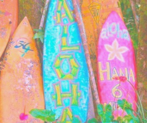 hawaii, surfboard, and tropical image