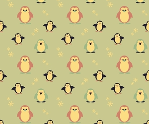 background, pinguin, and snow image