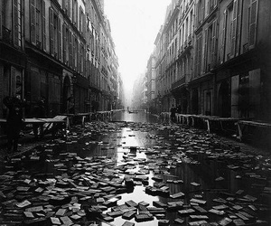 book, black and white, and paris image