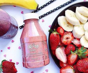 banana, food, and strawberry image