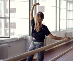 girl, workout, and ballet image