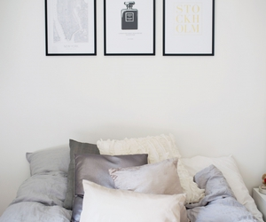 bedroom, black, and chanel image