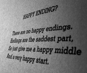 happy endings, life, and quote image