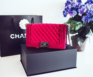 chanel, red, and bag image