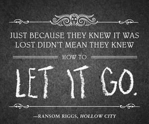 quote, miss peregrine, and ransom riggs image