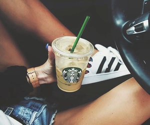 starbucks, adidas, and coffee image