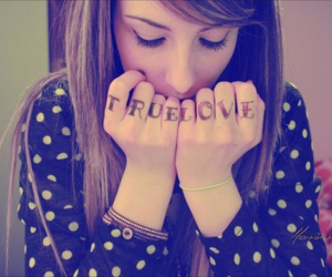 girl, love, and tattoo image