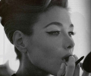 black and white and Carla Bruni image