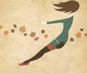 swing, art, and autumn image