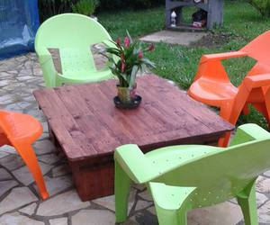 coffee table, garden table, and pallets wood table image