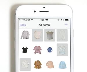 iphone, stylebook, and virtual closet image