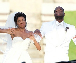 wedding, gabrielle union, and dwayne wade image