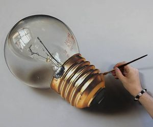art, drawing, and lamp image