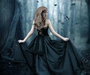 black dress and girl image