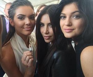 kim kardashian, kylie jenner, and kendall jenner image