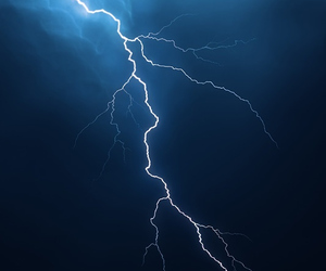 blue, lightning, and clouds image