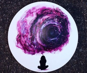 alone, paiting, and universe image