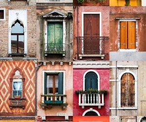 windows, door, and city image