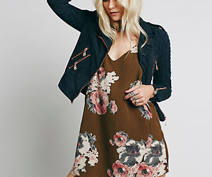 fashion, outfit, and jacket and dress image