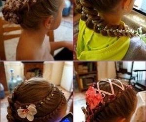 flower girl, hair, and princess image