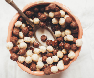 food, cereal, and chocolate image