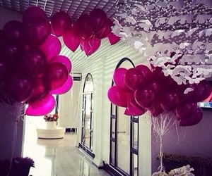 pink, balloons, and luxury image